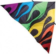 6.5' Delta Kite, Rainbow Flames