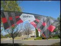 Revolution B-Series (Mid Vent) Quad Line Kite, Red/Black