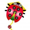 Diamond Lady Bug, Single-Line Kite