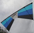 Rev EXP Quad Line Kite RTF, Lt Blue/Dark Blue/Black
